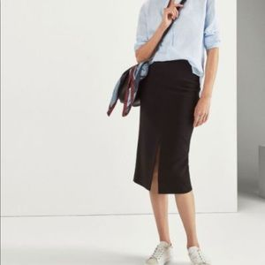 Massimo Dutti Ruched Front Pencil Skirt